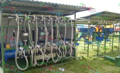 Доение в летний лагерь, передвижные доильные установки